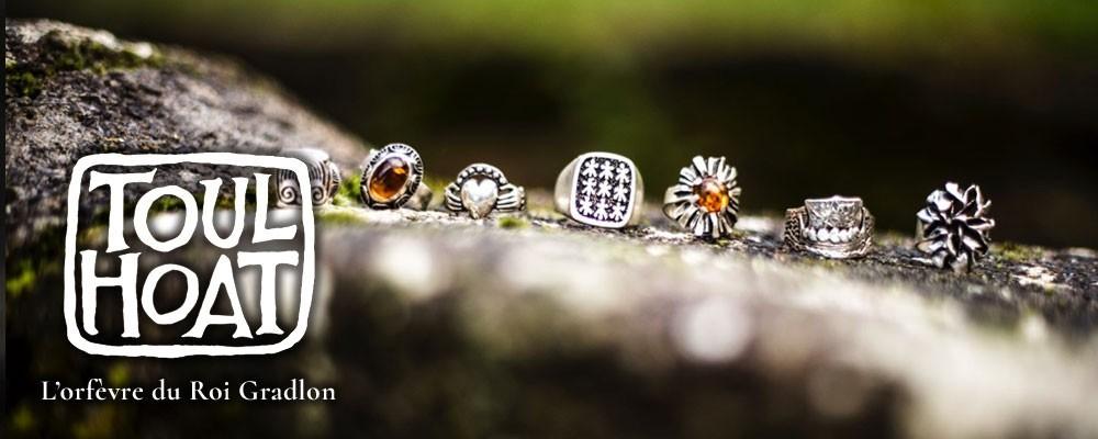 Vente en ligne bague toulhoat - bijou breton fabriqué à Quimper