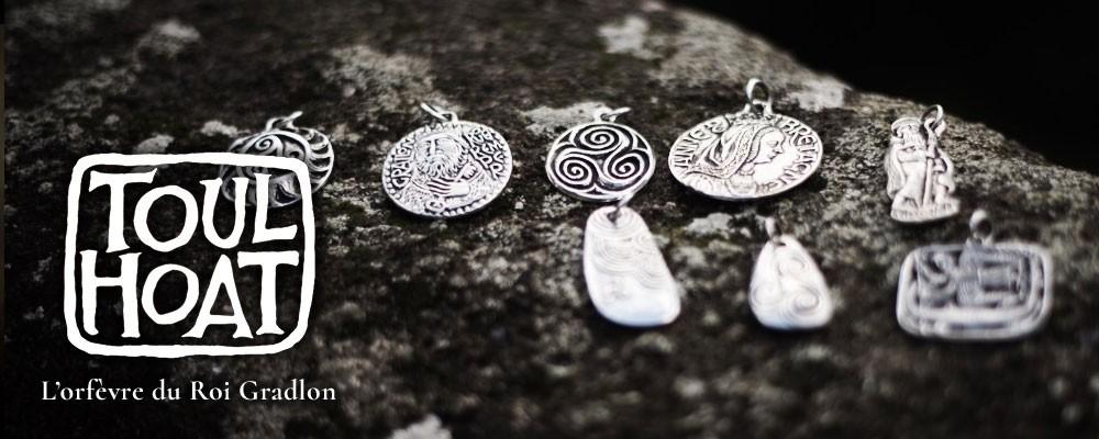 Médailles en argent personnage historique de bretagne - motifs celtes