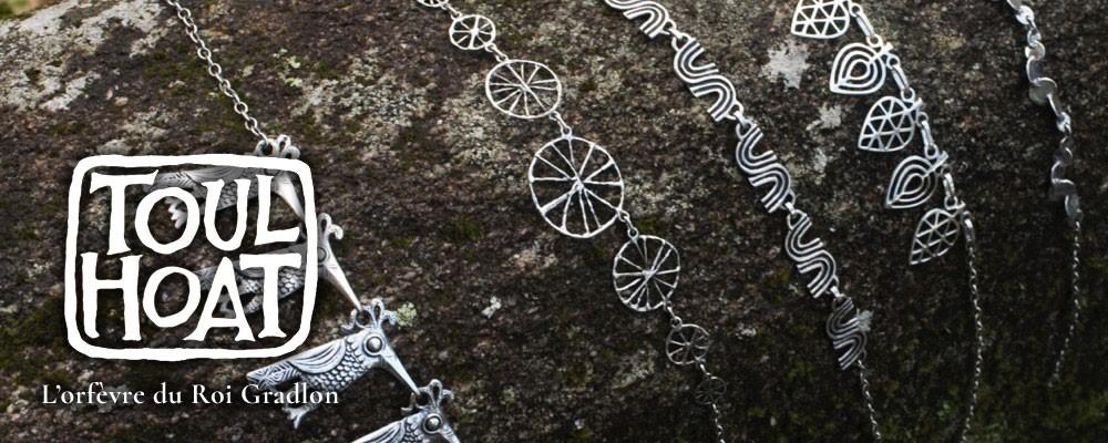 Vente en ligne Colliers argent massif toulhoat - bijou breton fabriqué à Quimper